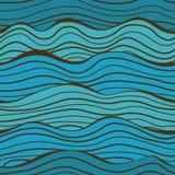 Безшовная картина волн моря Стоковые Фото