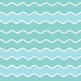 Безшовная картина волн Стоковое фото RF