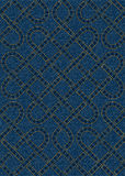 Безшовная картина вышитая на голубой предпосылке текстуры джинсовой ткани Стоковые Изображения RF