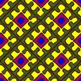 Безшовная картина в африканском стиле Иллюстрация вектора
