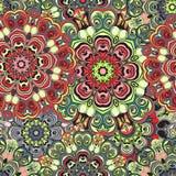 Безшовная картина в восточном стиле, покрашенная упаковочная бумага с орнаментом мандал Флористический дизайн или turkish, арабск Стоковое Изображение