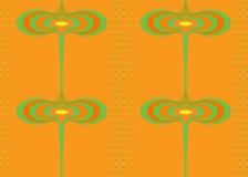 Безшовная картина в горячих цветах Стоковые Изображения RF