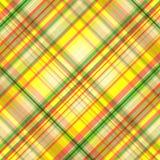 Безшовная картина в желтых оранжевых и зеленых клетках, тартане, векторе иллюстрация вектора
