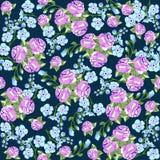 Безшовная картина в малом цветке Романтичная печать цветка бесплатная иллюстрация