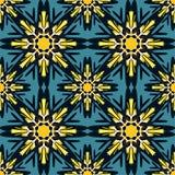 Безшовная картина в предпосылке восточного стиля красочной орнаментальной с мотивами ислама элементов мандалы арабскими азиатским Стоковое фото RF