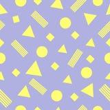 Безшовная картина в ретро стиле 80s, диско также вектор иллюстрации притяжки corel Стоковое Изображение RF