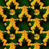 Безшовная картина в цветах осени сделанных из кленовых листов, темное gre Стоковые Фотографии RF