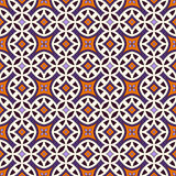 Безшовная картина в цветах хеллоуина традиционных Абстрактная предпосылка с яркими этническими орнаментами Стоковые Фотографии RF