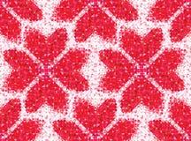 Безшовная картина влюбленности геометрического сердца Стоковые Фотографии RF