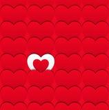 Безшовная картина влюбленности сердец. Стоковое Изображение RF