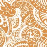 Безшовная картина в polynesian стиле Стоковое Изображение RF
