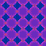 Безшовная картина геометрии В голубых, розовых и фиолетовых цветах Стоковое фото RF