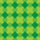 Безшовная картина геометрии В зеленых цветах Иллюстрация вектора