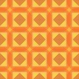 Безшовная картина геометрии В оранжевых и желтых цветах Иллюстрация штока