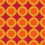 Безшовная картина геометрии В цветах апельсина, желтых и красных Стоковое Изображение RF