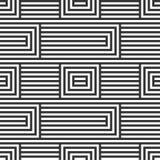Безшовная картина, геометрический дизайн, линейная предпосылка с geome Стоковое Изображение