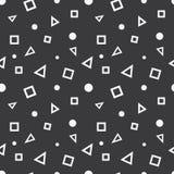 Безшовная картина геометрических элементов Стоковые Фотографии RF