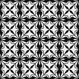 Безшовная картина геометрической снежинки квадратные снежинки вектор Стоковое Изображение