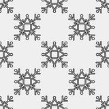 Безшовная картина геометрической снежинки квадратные снежинки вектор Стоковые Фото