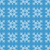 Безшовная картина геометрической снежинки квадратные снежинки вектор Стоковые Изображения RF