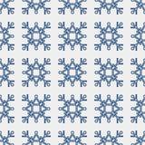 Безшовная картина геометрической снежинки квадратные снежинки вектор Стоковая Фотография RF