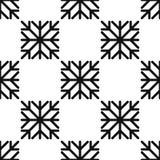 Безшовная картина геометрической снежинки квадратные снежинки Вектор EPS-10 Стоковое фото RF