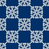 Безшовная картина геометрической снежинки квадратные снежинки Вектор EPS-10 Стоковое Фото