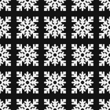 Безшовная картина геометрической снежинки квадратные снежинки Вектор EPS-10 Стоковая Фотография