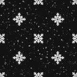 Безшовная картина геометрической снежинки квадратные снежинки и снежности вектор Стоковое фото RF