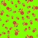 Безшовная картина головы жирафа иллюстрация штока