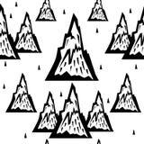 Безшовная картина гор Стоковые Изображения