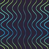 Безшовная картина голубых линий Стоковое фото RF