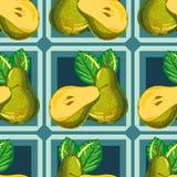 Безшовная картина груши Стоковая Фотография