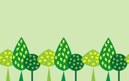 Безшовная картина декоративных деревьев бесплатная иллюстрация