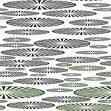 Безшовная картина дисков в форме эллипсиса с радиальными линиями иллюстрация вектора