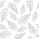 Безшовная картина для красить с листьями осени иллюстрация вектора