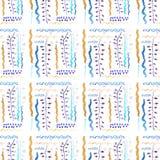 Безшовная картина для оформления зимы с линиями, гирляндами, и волнами бесплатная иллюстрация