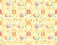 Безшовная картина дня рождения иллюстрация вектора