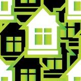 Безшовная картина домов иллюстрация штока