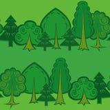 Безшовная картина леса Стоковое Изображение