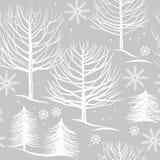 Безшовная картина, лес зимы Стоковые Фотографии RF