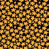 Безшовная картина желтой звезды как печенья Иллюстрация акварели стоковые фотографии rf