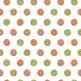 Безшовная картина застекленных donuts Стоковая Фотография RF