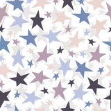 Безшовная картина звезд. Illustrati текстуры вектора Стоковая Фотография RF