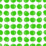 Безшовная картина зеленых яблок Стоковые Фото