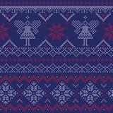 Безшовная картина - зима, рождество, Новый Год Стоковые Изображения