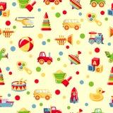 Безшовная картина игрушек Стоковое Изображение RF