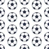 Безшовная картина изолированная на белых шариках футбола бесплатная иллюстрация