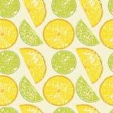Безшовная картина лимона Стоковое фото RF