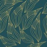 Безшовная картина иллюстрации с абстрактными листьями Стоковая Фотография RF